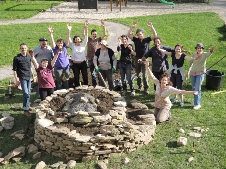 Groupe locomotivé et coworkers du jardin d'arvieu