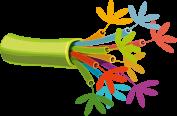 Câble électrique fait en fleur colorées