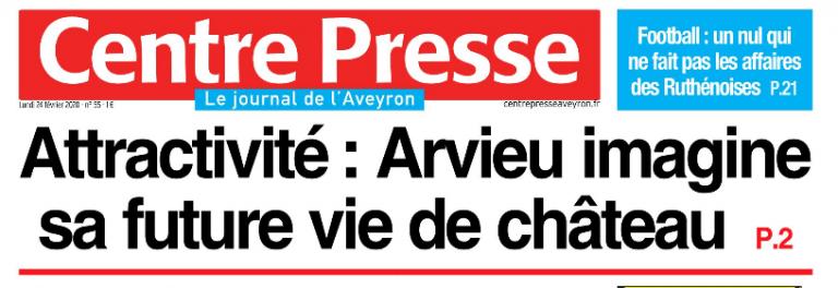 Article du journal centre presse (Aveyron).